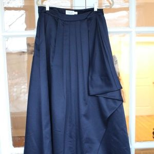 Eliza J Navy Blue Floor Length Skirt - Size 10
